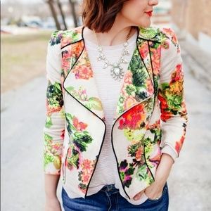 LINE & DOT Botanical Garden Moto Jacket {D36}